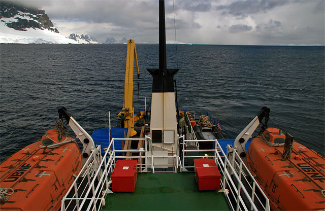Traveling north in Peltier Channel.